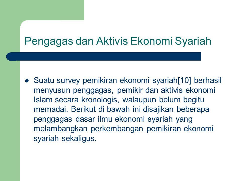 Pengagas dan Aktivis Ekonomi Syariah