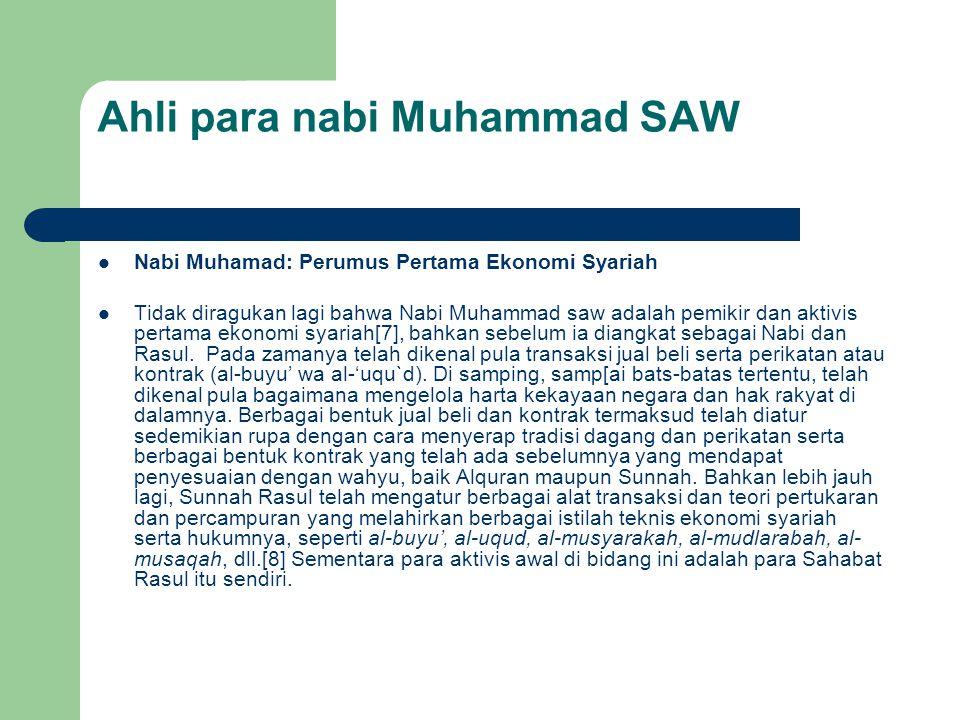Ahli para nabi Muhammad SAW