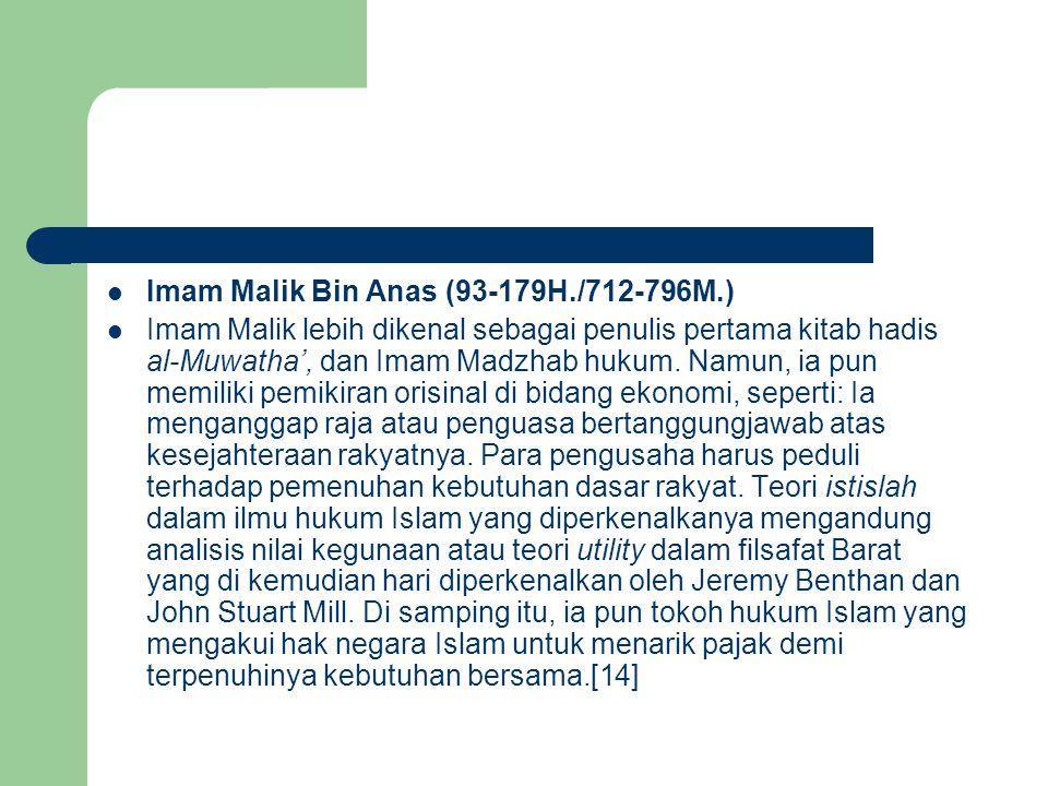 Imam Malik Bin Anas (93-179H./712-796M.)