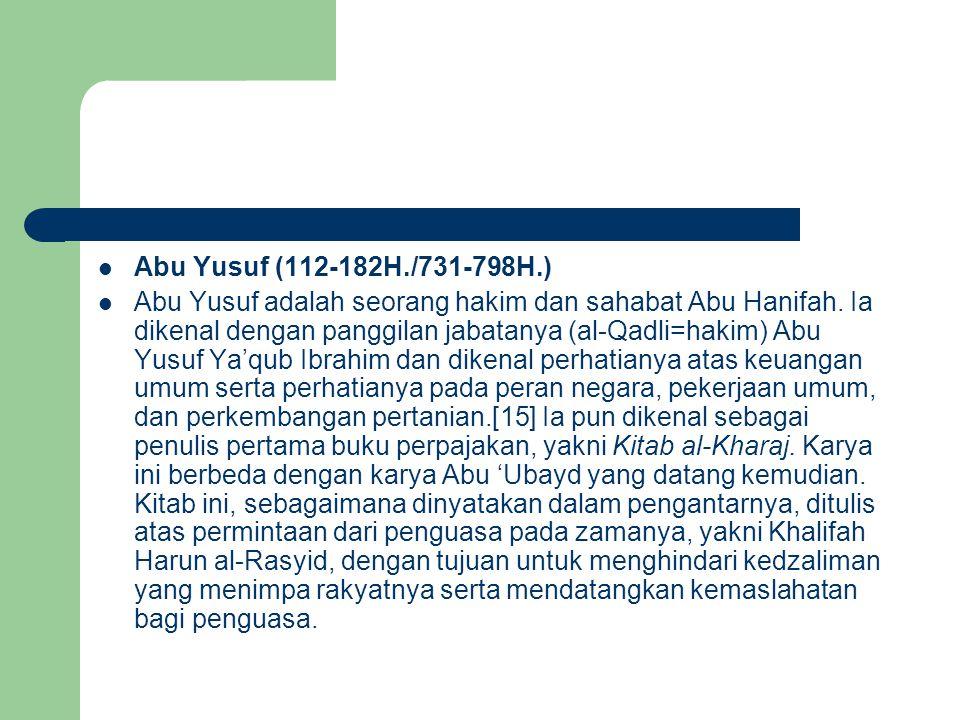 Abu Yusuf (112-182H./731-798H.)