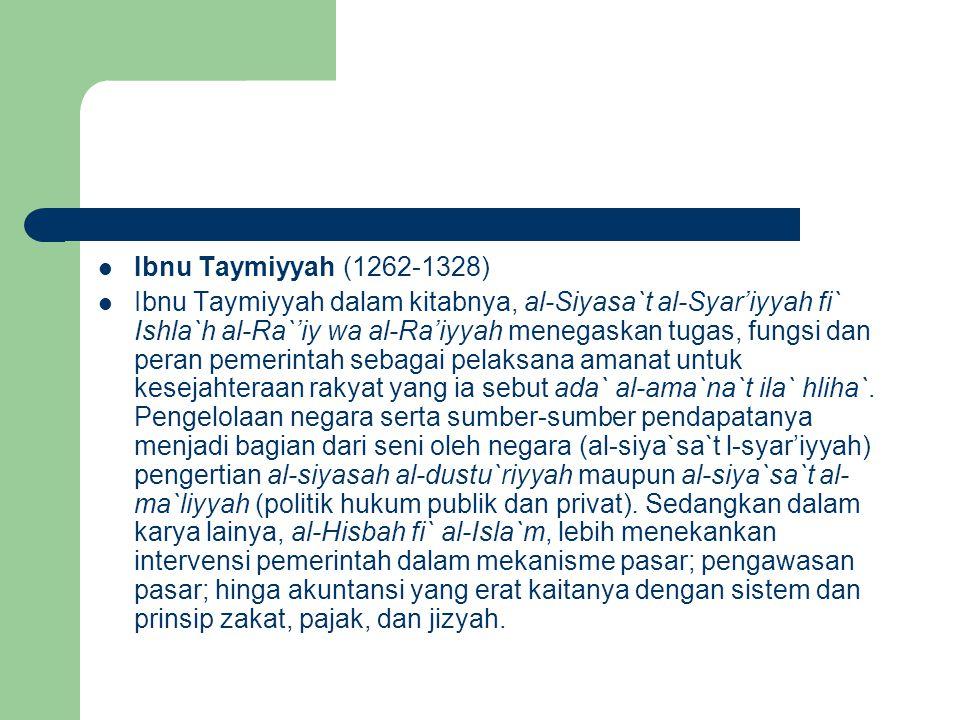 Ibnu Taymiyyah (1262-1328)