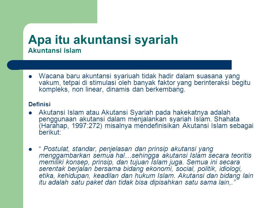 Apa itu akuntansi syariah Akuntansi islam