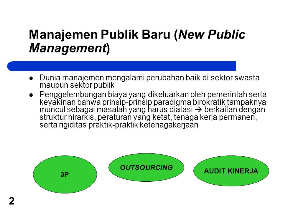 Manajemen Publik Baru (New Public Management)