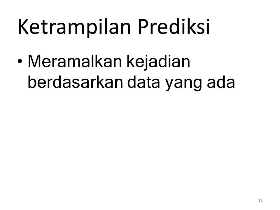 Ketrampilan Prediksi Meramalkan kejadian berdasarkan data yang ada