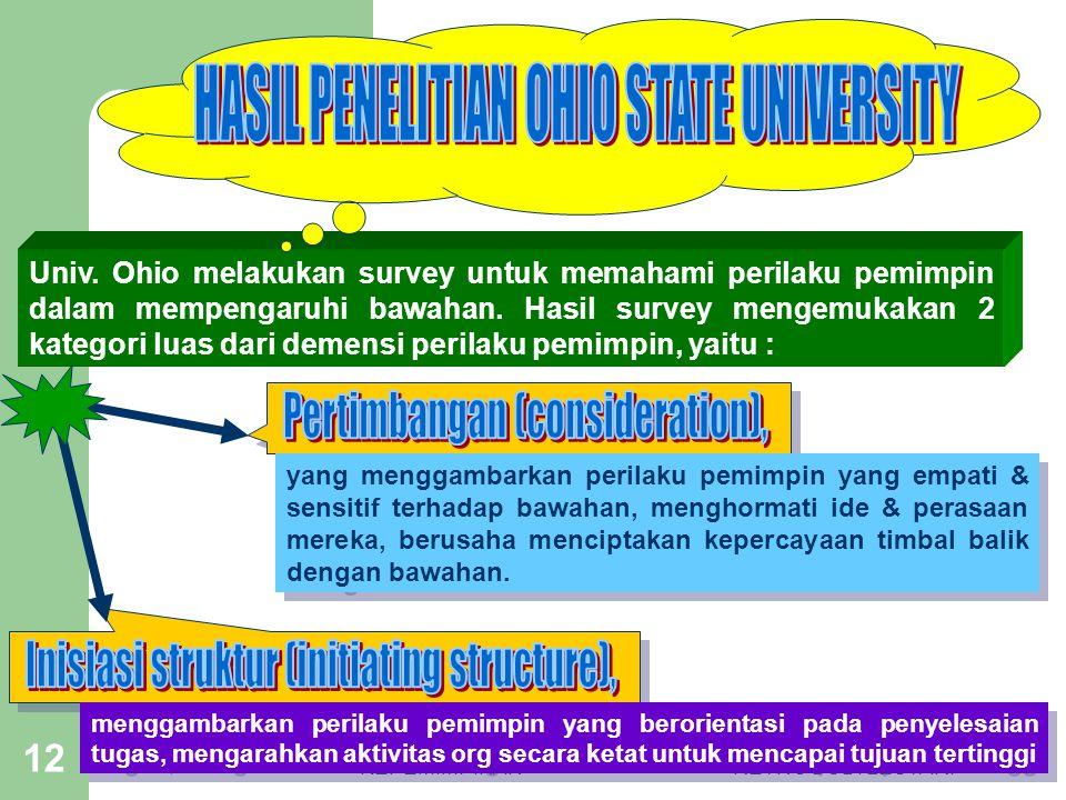 HASIL PENELITIAN OHIO STATE UNIVERSITY
