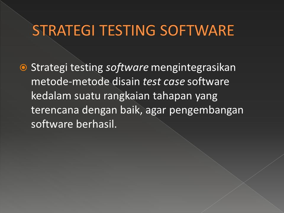 STRATEGI TESTING SOFTWARE