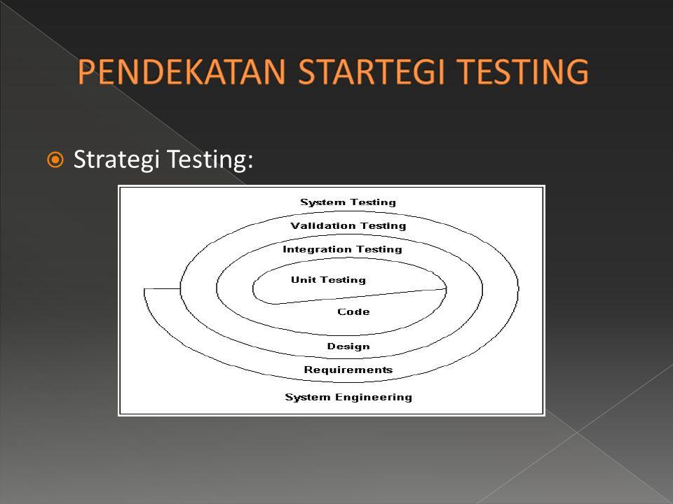 PENDEKATAN STARTEGI TESTING