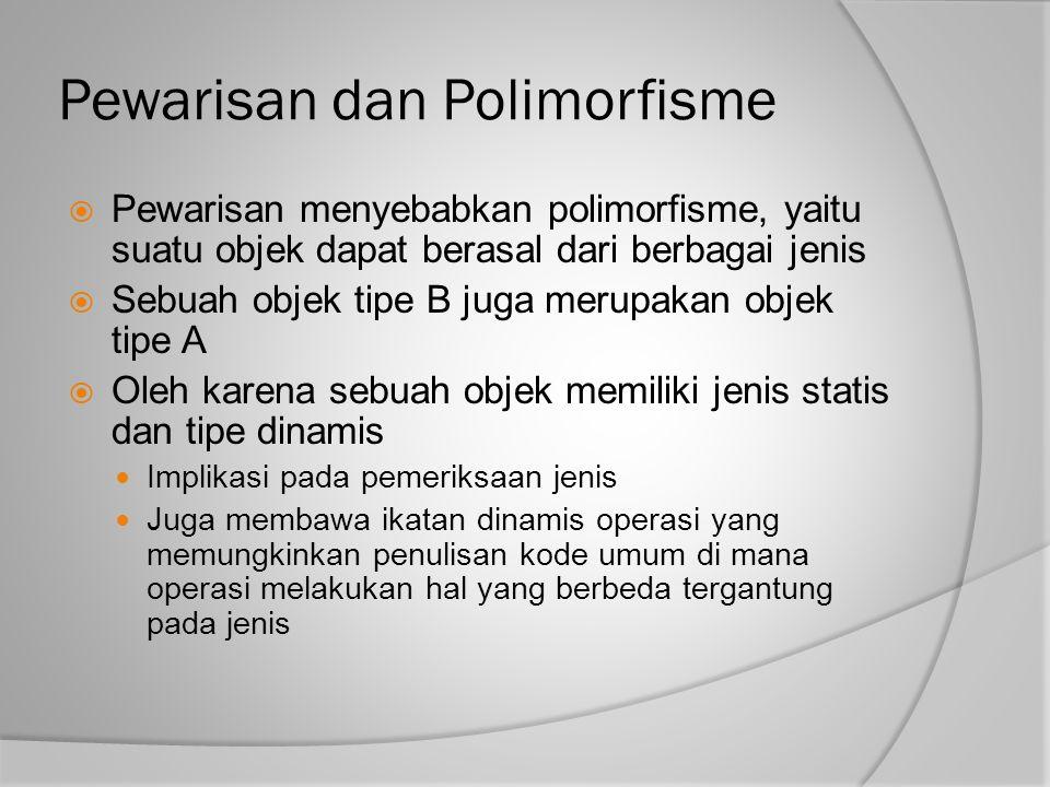 Pewarisan dan Polimorfisme