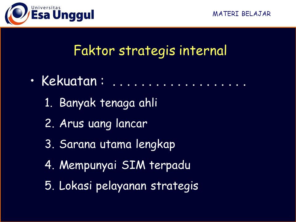 Faktor strategis internal