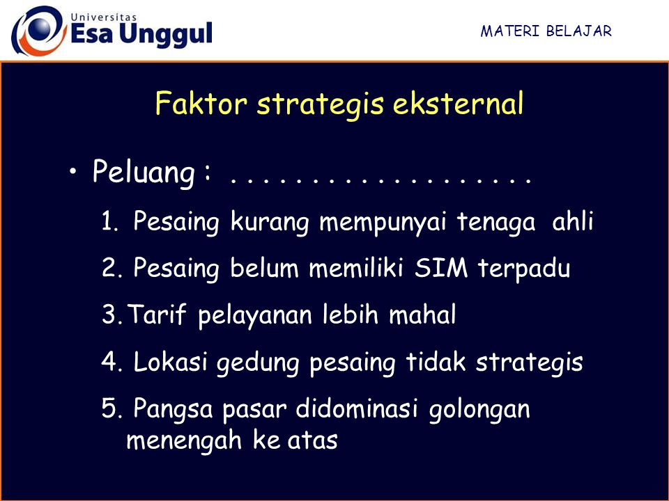 Faktor strategis eksternal