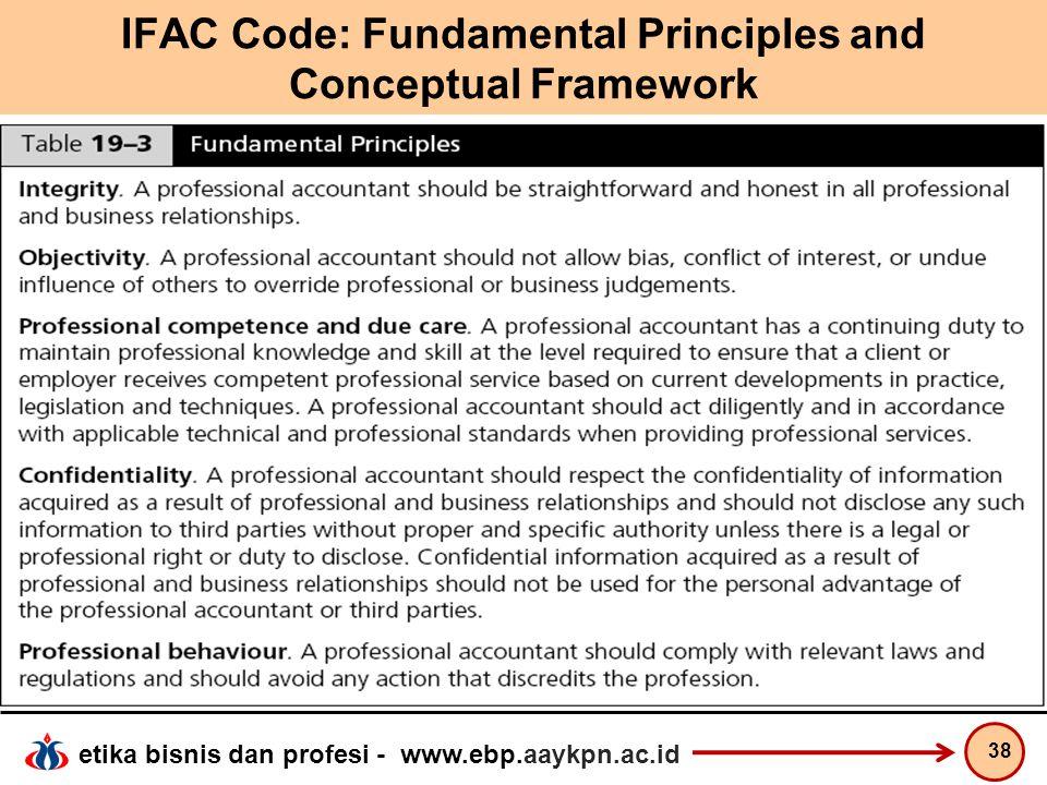 IFAC Code: Fundamental Principles and Conceptual Framework
