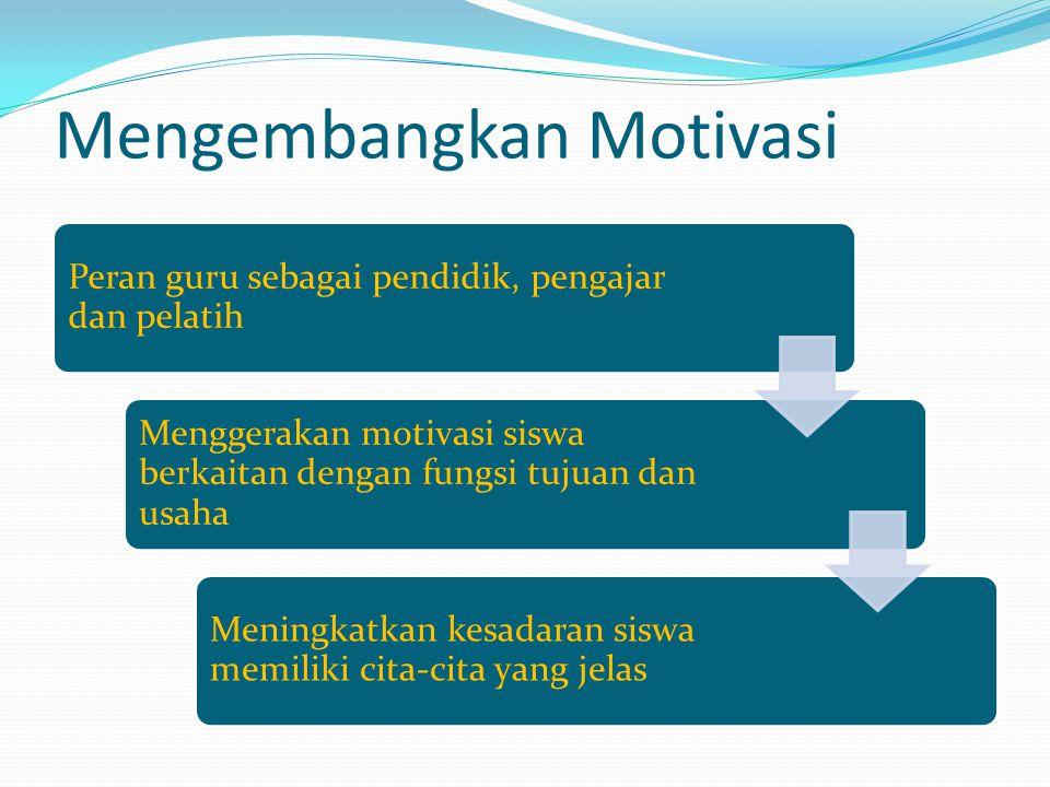 Mengembangkan Motivasi