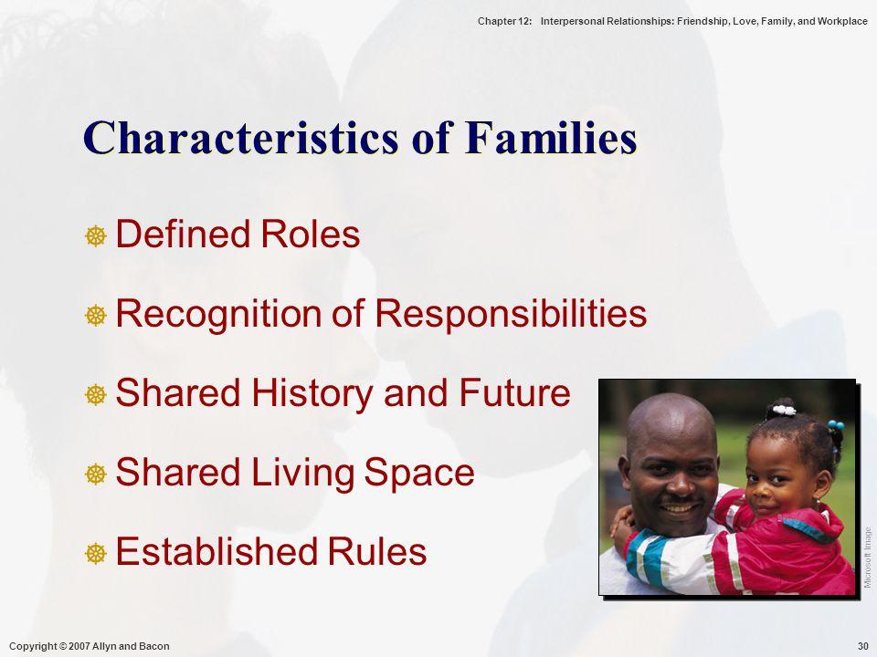 Characteristics of Families