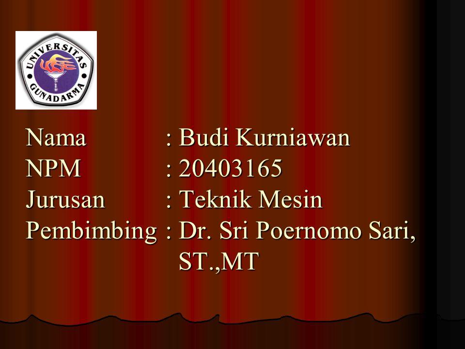 Nama. : Budi Kurniawan NPM. : 20403165 Jurusan