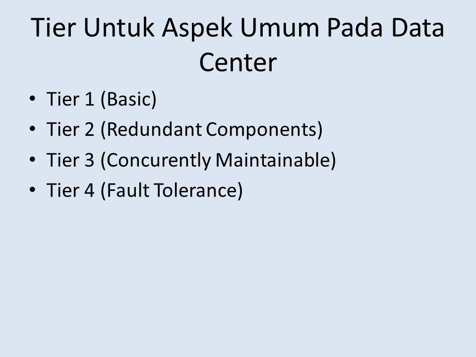 Tier Untuk Aspek Umum Pada Data Center