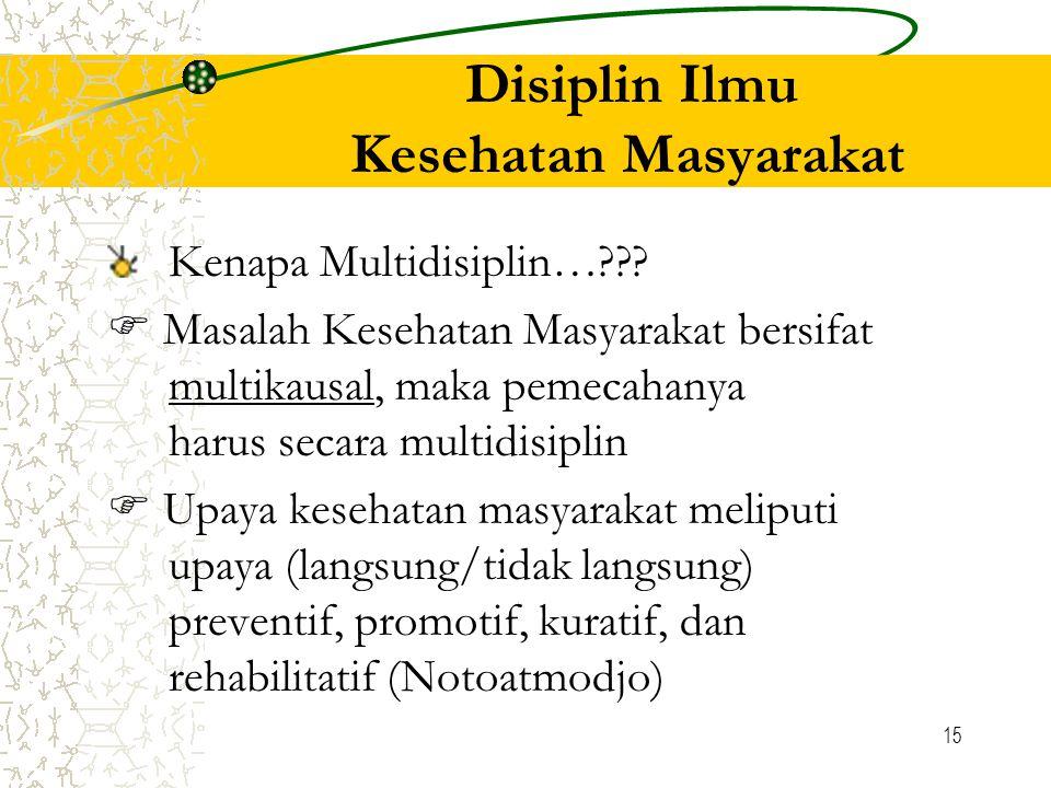 Disiplin Ilmu Kesehatan Masyarakat