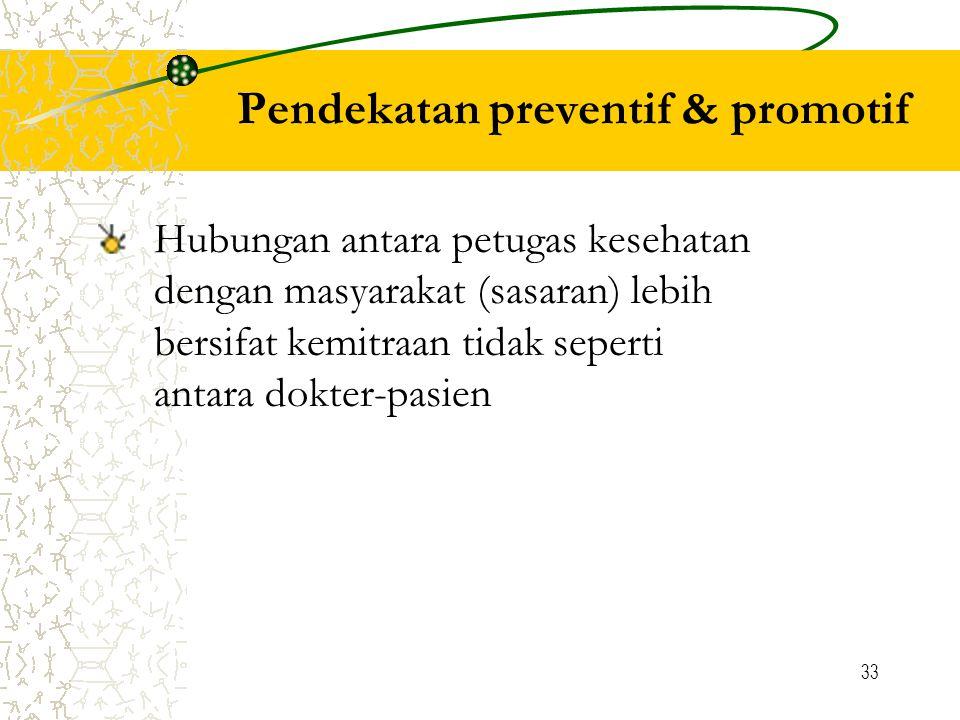 Pendekatan preventif & promotif