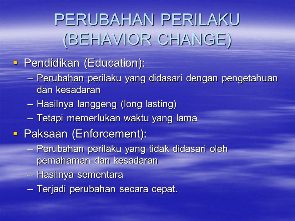 PERUBAHAN PERILAKU (BEHAVIOR CHANGE)