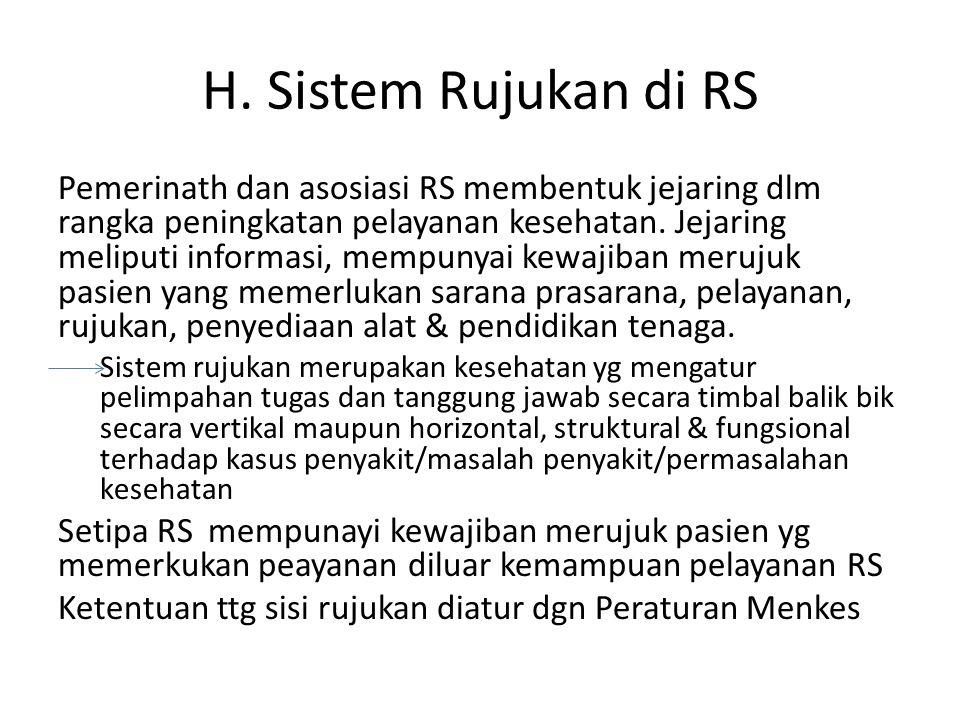 H. Sistem Rujukan di RS