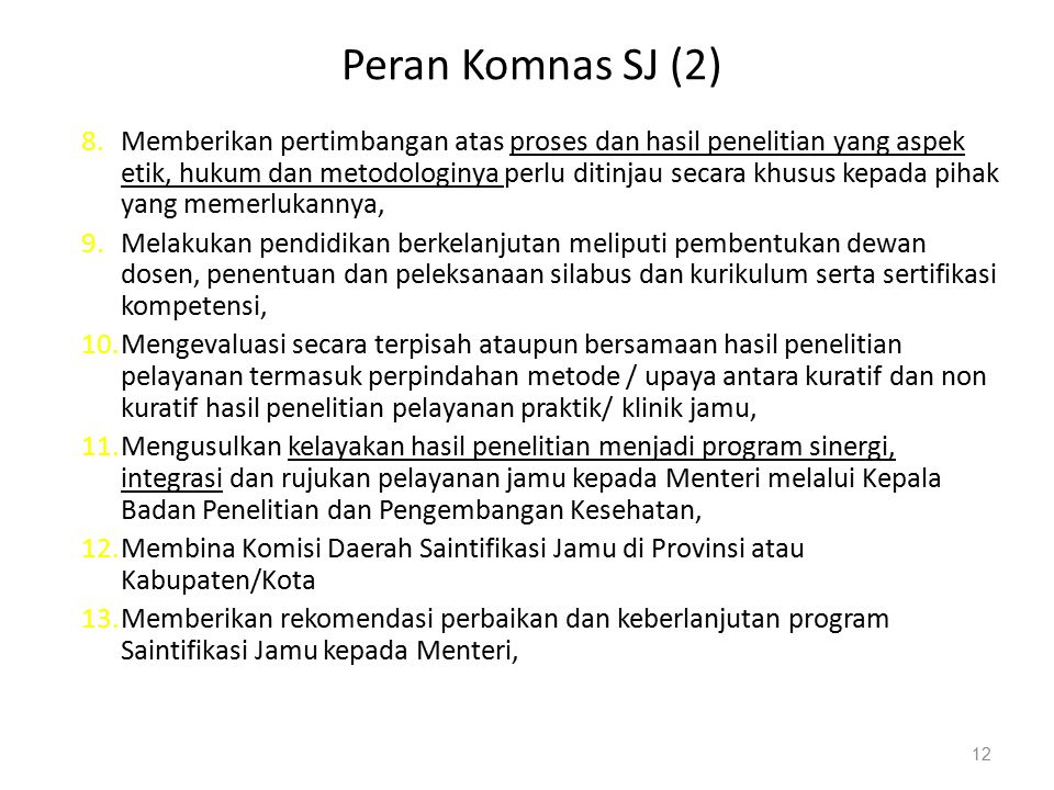 Peran Komnas SJ (2)