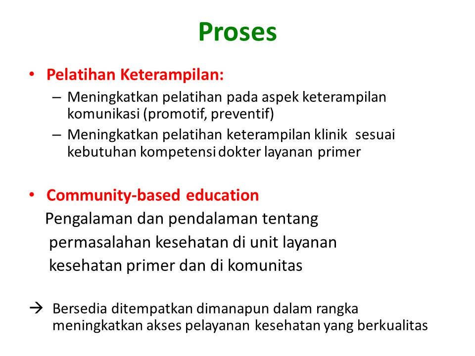 Proses Pelatihan Keterampilan: Community-based education
