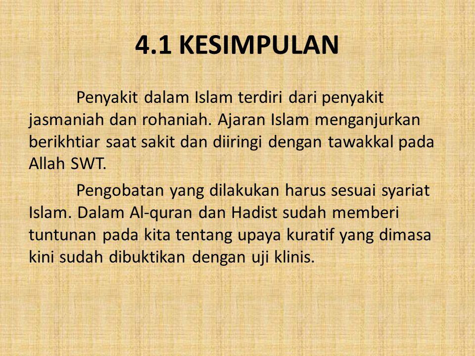 4.1 KESIMPULAN