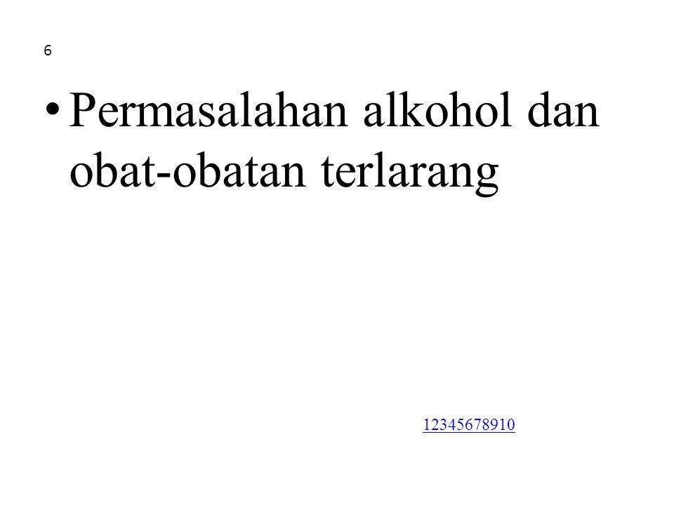 Permasalahan alkohol dan obat-obatan terlarang