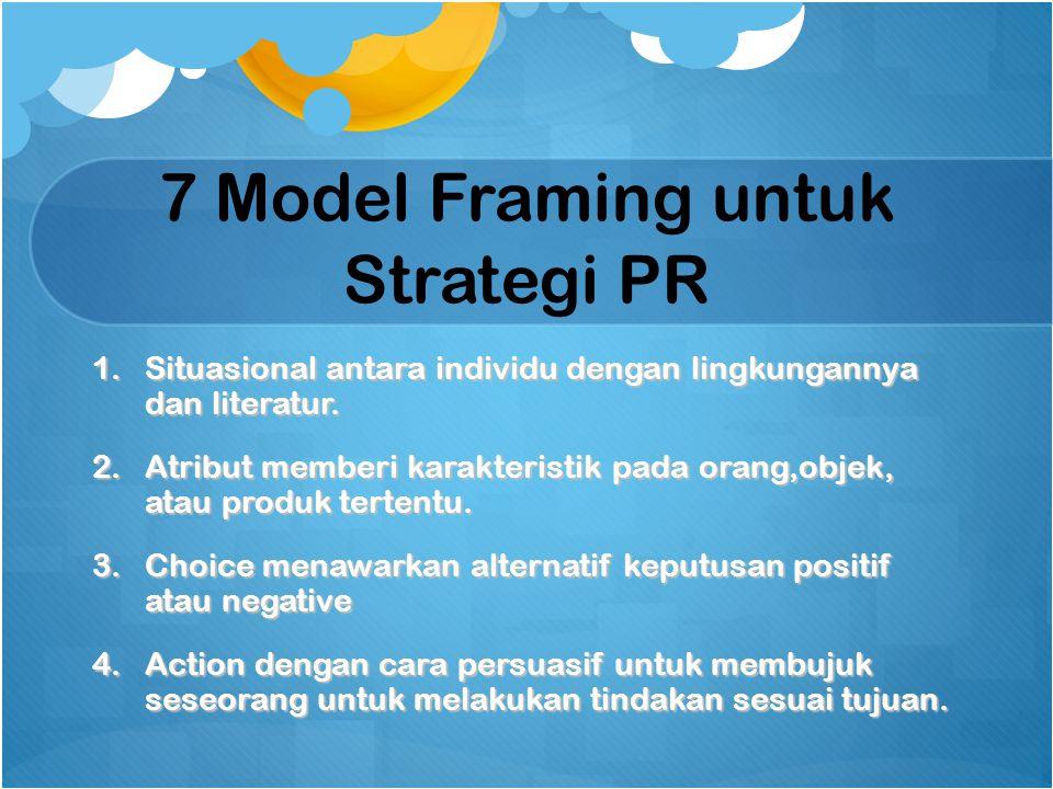7 Model Framing untuk Strategi PR