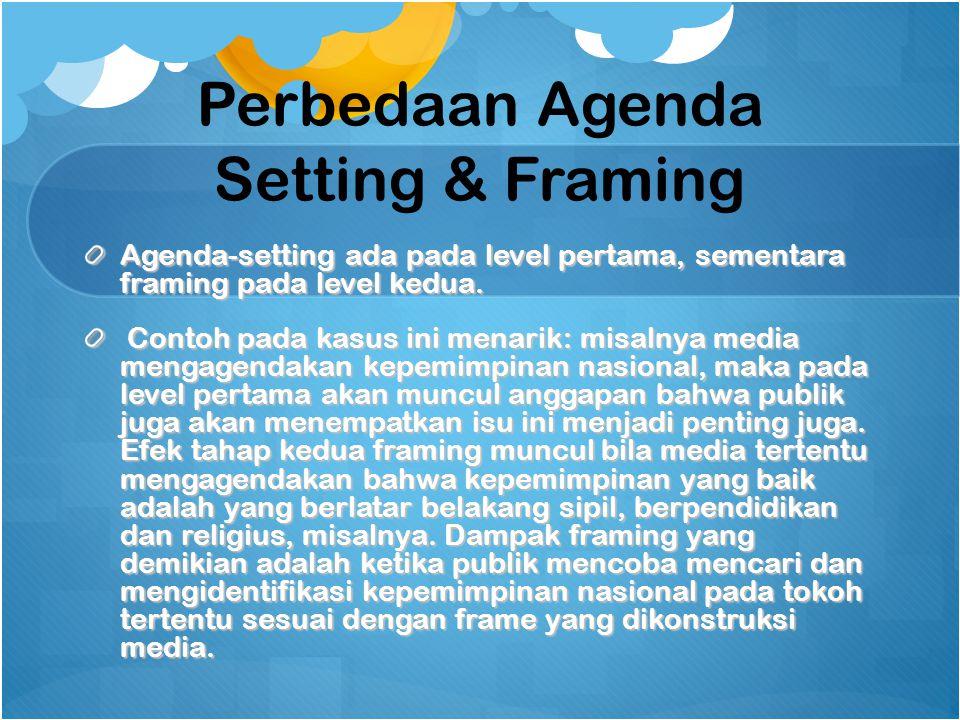 Perbedaan Agenda Setting & Framing