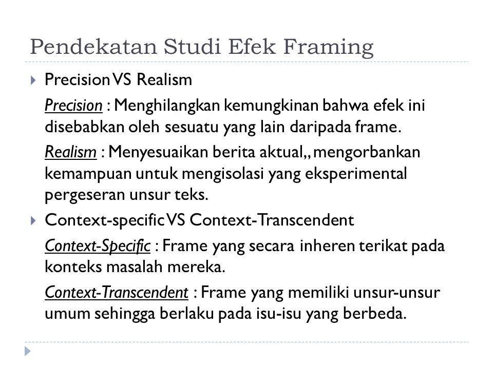 Pendekatan Studi Efek Framing