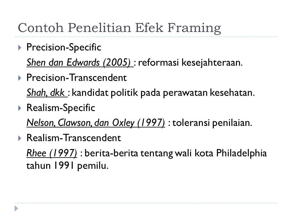 Contoh Penelitian Efek Framing