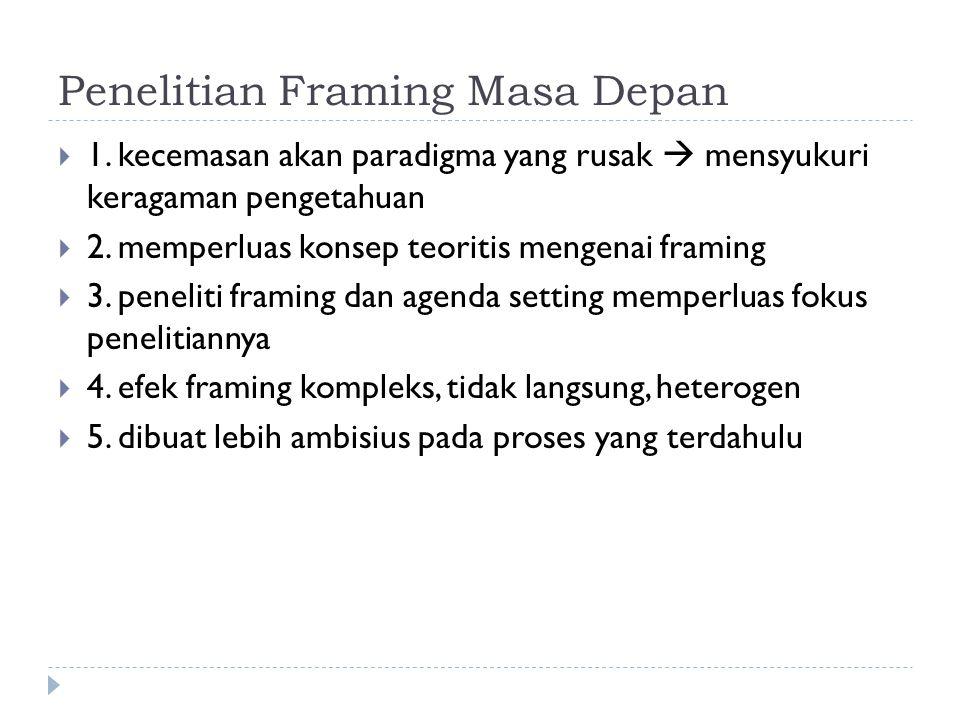 Penelitian Framing Masa Depan
