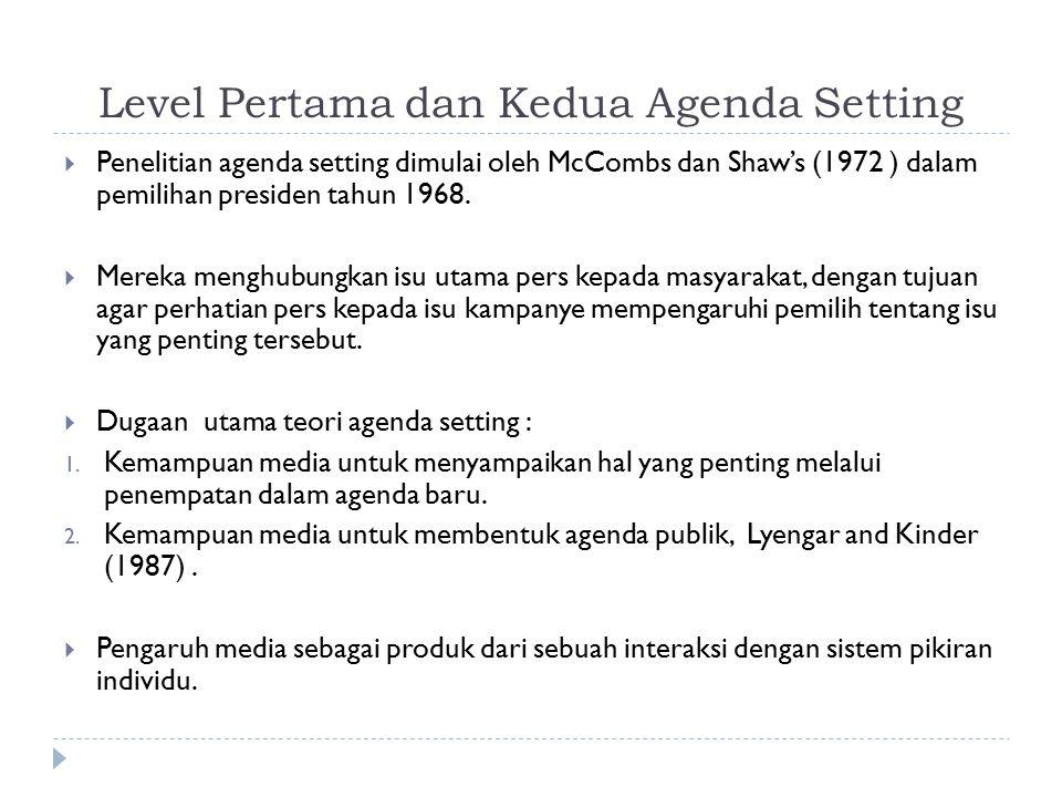 Level Pertama dan Kedua Agenda Setting