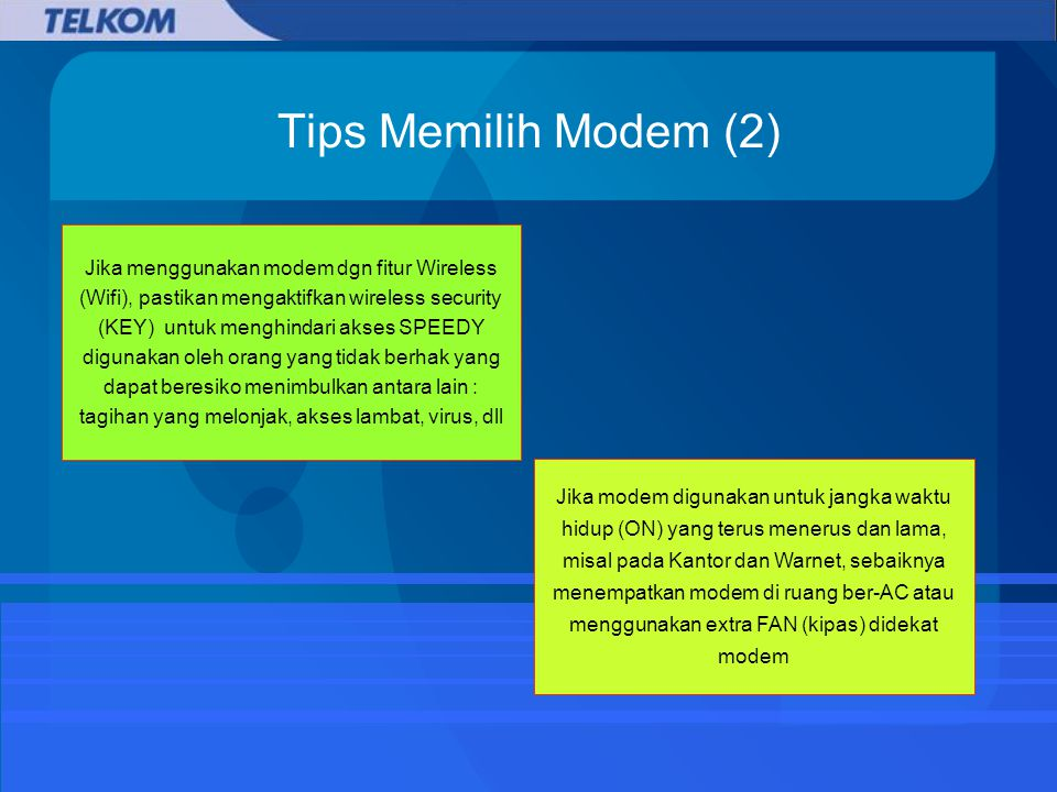 Tips Memilih Modem (2)