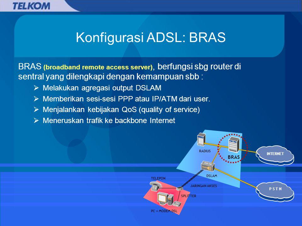 Konfigurasi ADSL: BRAS