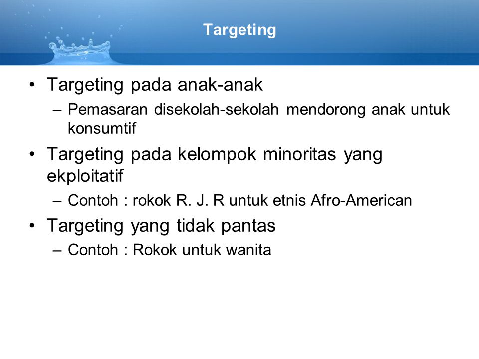 Targeting pada anak-anak