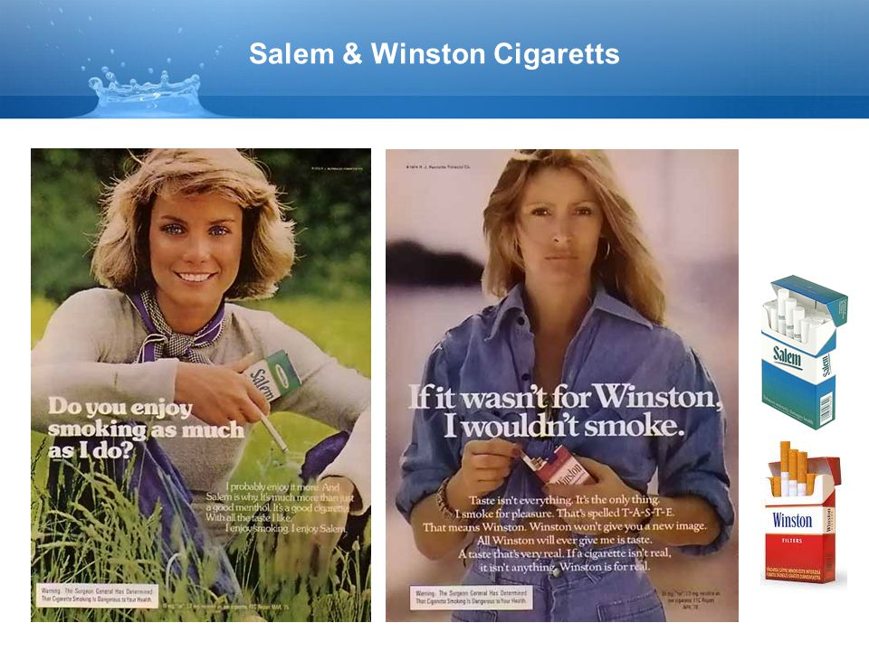 Salem & Winston Cigaretts