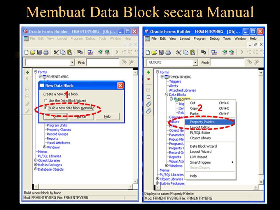 Membuat Data Block secara Manual