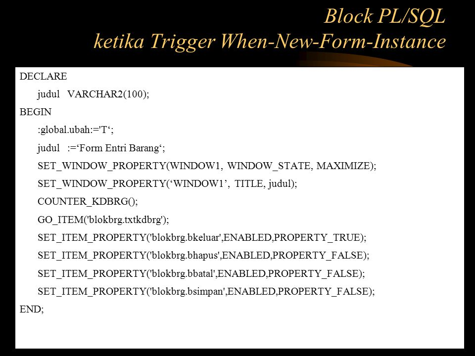 ketika Trigger When-New-Form-Instance