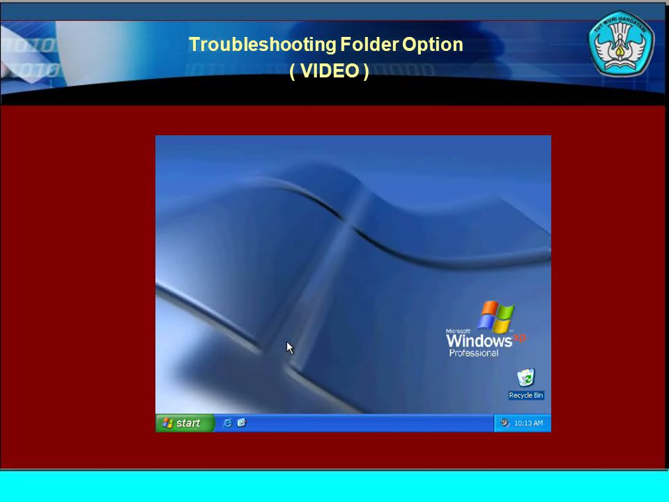 Troubleshooting Folder Option