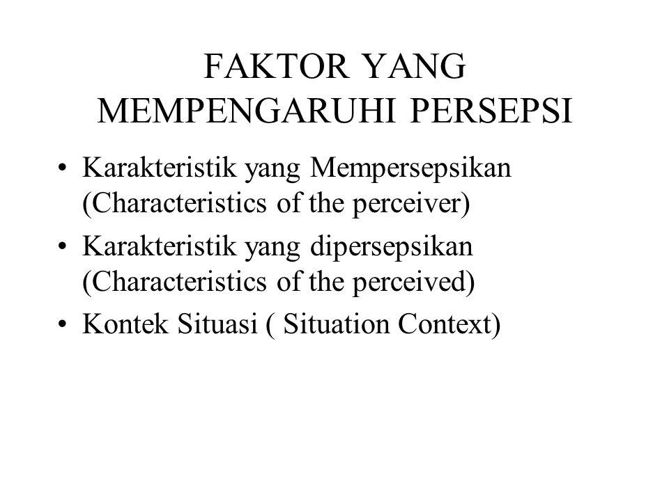 FAKTOR YANG MEMPENGARUHI PERSEPSI