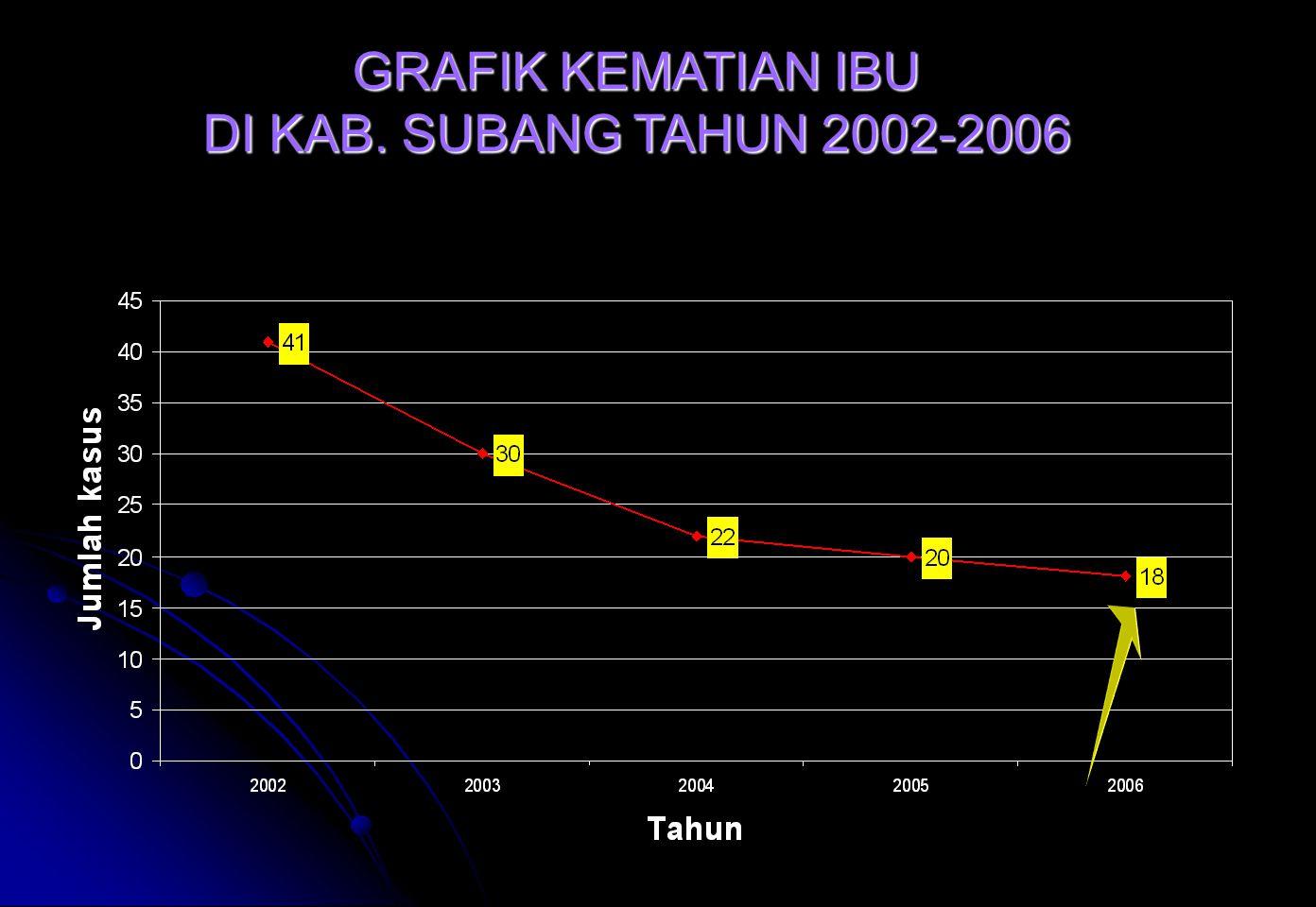 GRAFIK KEMATIAN IBU DI KAB. SUBANG TAHUN 2002-2006