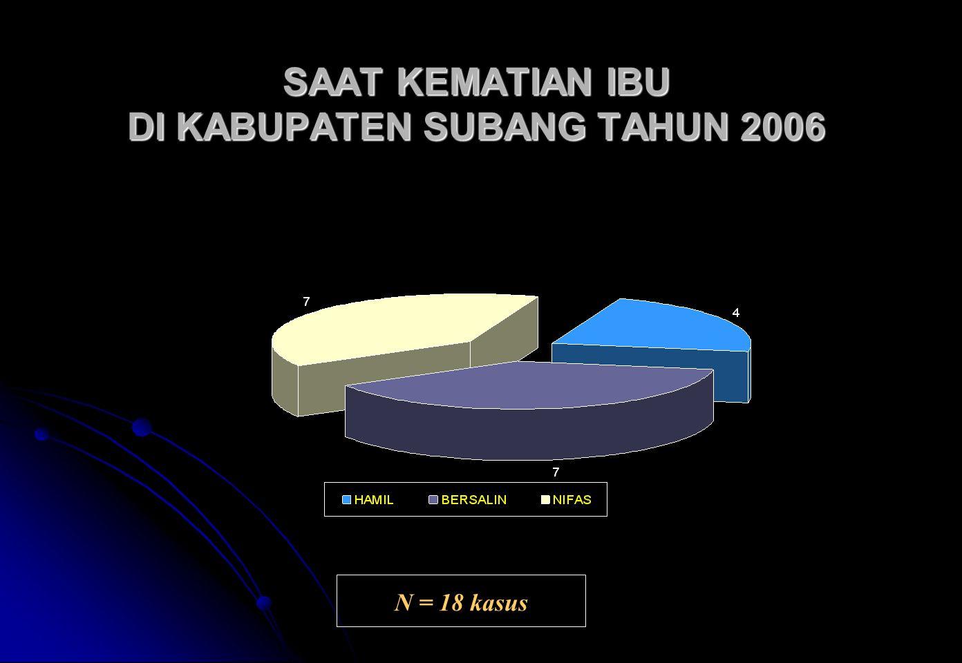 SAAT KEMATIAN IBU DI KABUPATEN SUBANG TAHUN 2006
