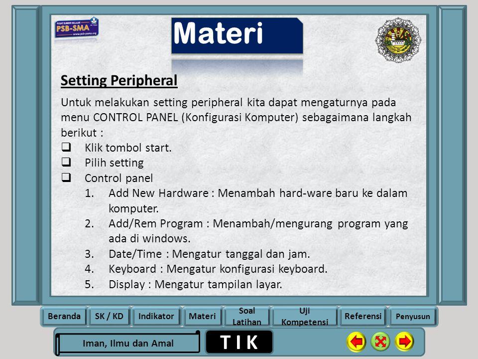 Materi Setting Peripheral