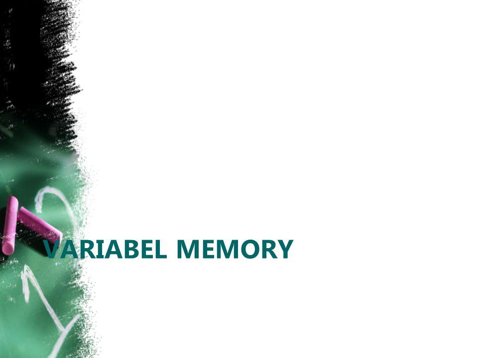 VARIABEL MEMORY