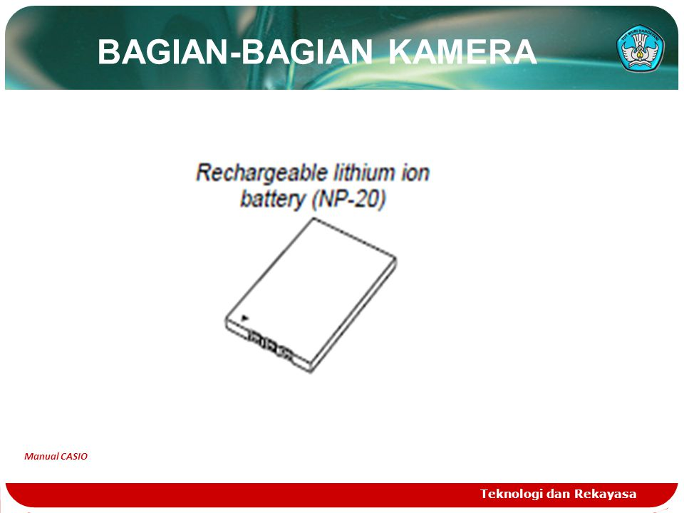 BAGIAN-BAGIAN KAMERA Manual CASIO Teknologi dan Rekayasa