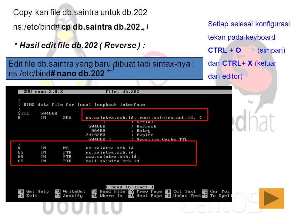 Copy-kan file db.saintra untuk db.202