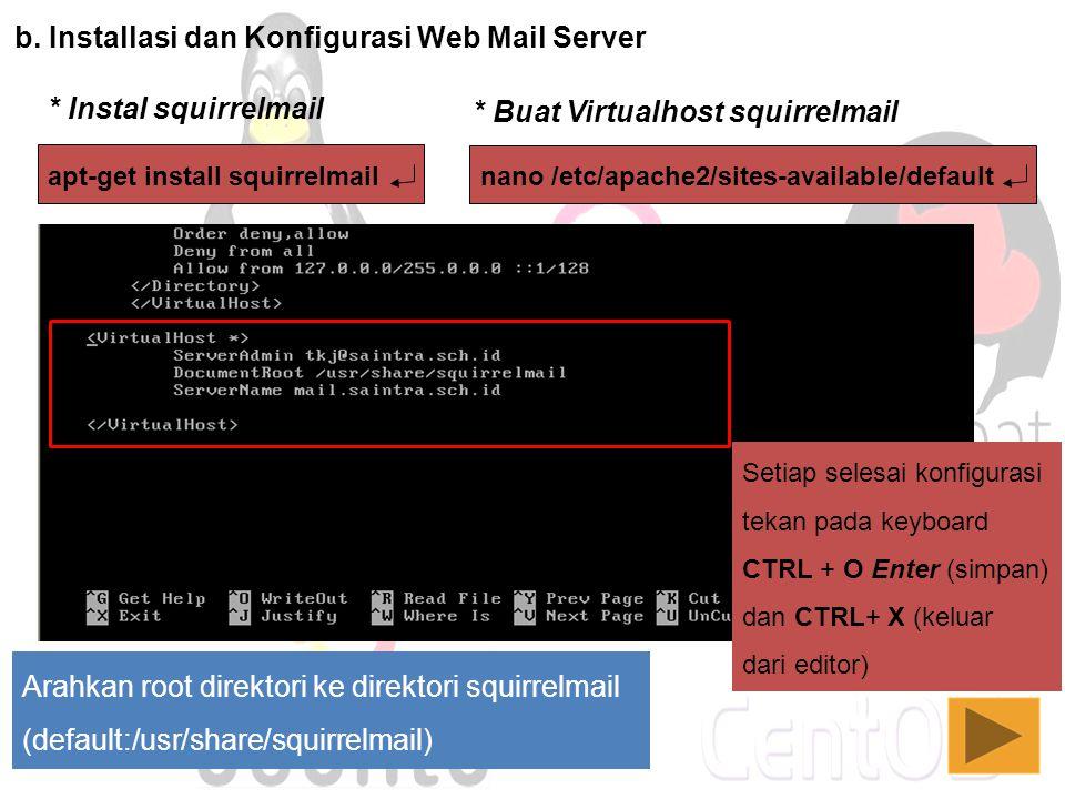 b. Installasi dan Konfigurasi Web Mail Server