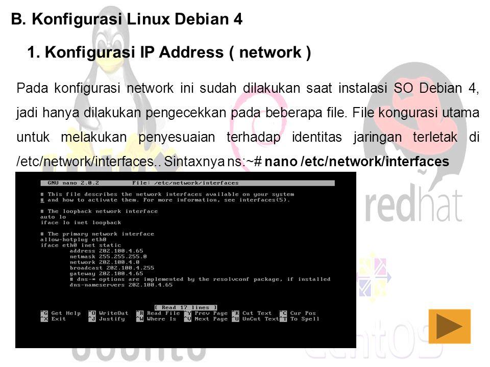 B. Konfigurasi Linux Debian 4
