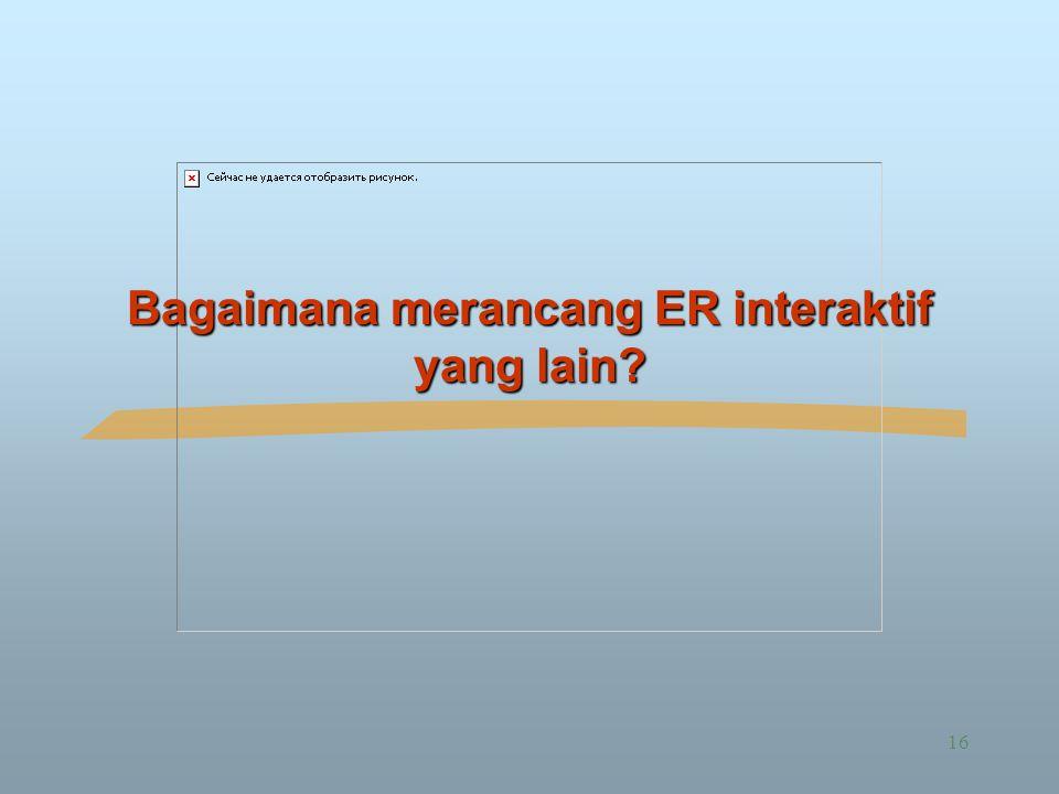 Bagaimana merancang ER interaktif yang lain